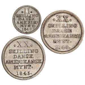 Slutpris för Dansk Vestindien, Dansk Amerikansk Mønt,