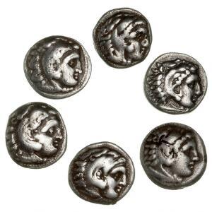 Antikkens Grækenland, 6 drakmer fra Alexander d. Store og Philip III