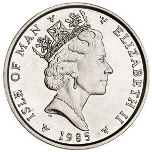 Isle of Man, One Noble 1985, KM 154 - 1 oz platinum fine