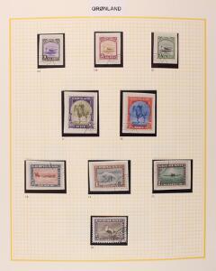 Grønland. 1938-2009. God samling med Amerikanerudgave og rigtig mange LUX-stempler. Også et par bedre forsendelse i den tidlige del