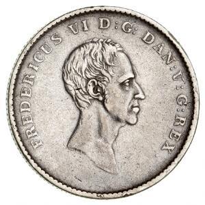 Frederik VI, 12 speciedaler  rigsbankdaler 1826, H 27A