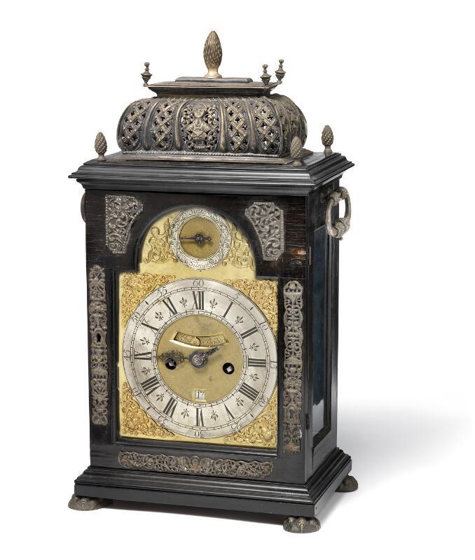 W. Tourdain, London, mid-18th century: A George III music striking clock...