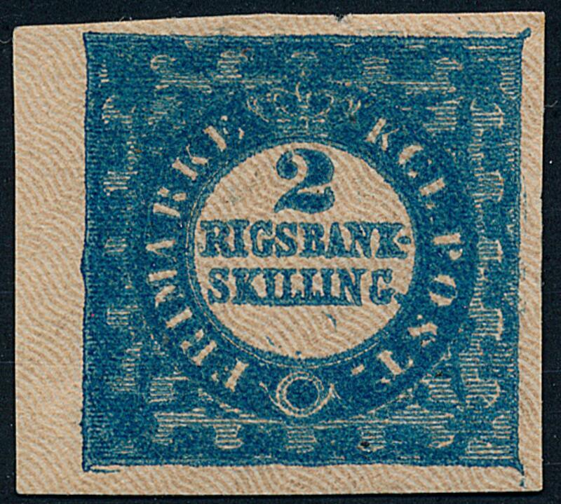 1851. 2 R.B.S. greenlish blue. FERSLEWS PROOF. Plate I, no.51. Type 1...