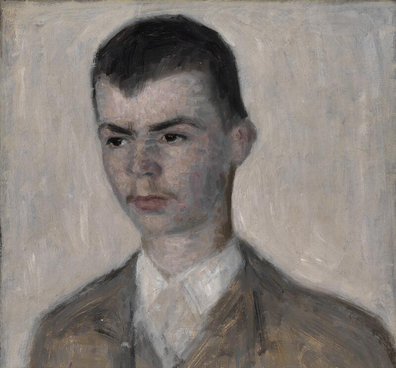 Vilhelm Hammershøi: Portrait of the artist's brother, Svend Hammershøi...