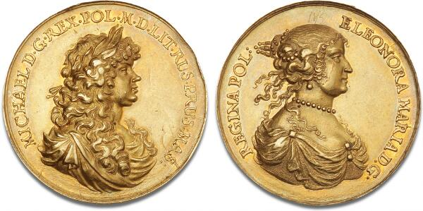 Poland and Lithuania, Michael I, 1669-1673, undated (1670) commemorative medal for Michael