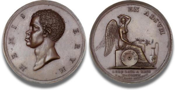 Slavehandelens ophævelse, 1792, B 4, Forrer II, s. 192, bronze