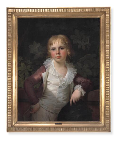 Jens Juel: Portrait of a Russian prince. Signed and dated Jens Juel 1798. Oil on canvas. 68 x 54 cm.