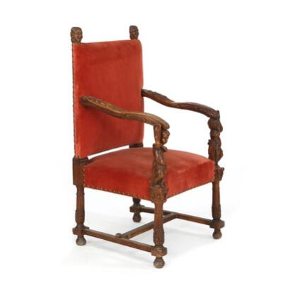 A french baroque style walnut armchair richly carved with attributes for wine and grain growing - Growing french walnuts for a profit ...