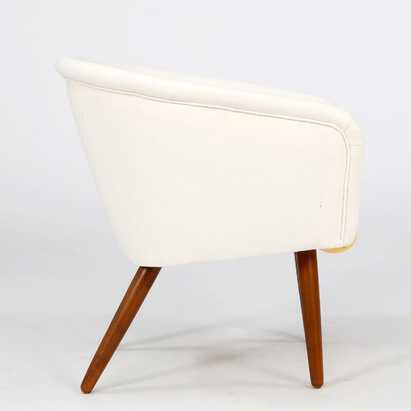 Danish Funiture Design Easy Chair With Legs Of Stained