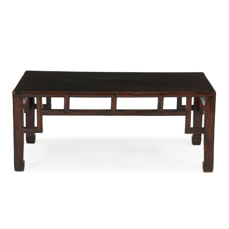 Sold a chinese hardwood table qing dynasty late 19th for Table induction 71 x 52