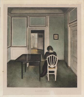 "Vilhelm Hammershøi: ""Aabne Døre"". Interior from Strandgade 30, Copenhagen..."