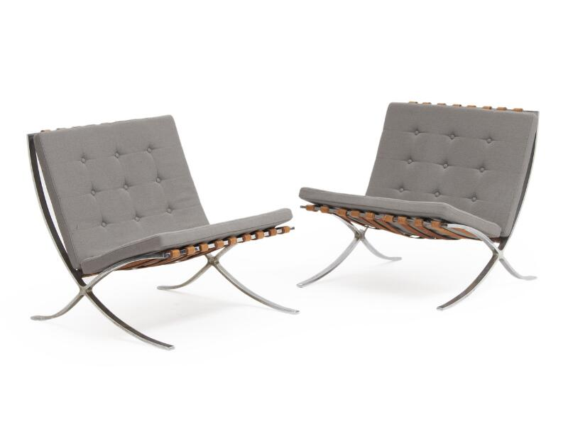 Swell Ludwig Mies Van Der Rohe Barcelona A Pair Of Lounge Creativecarmelina Interior Chair Design Creativecarmelinacom