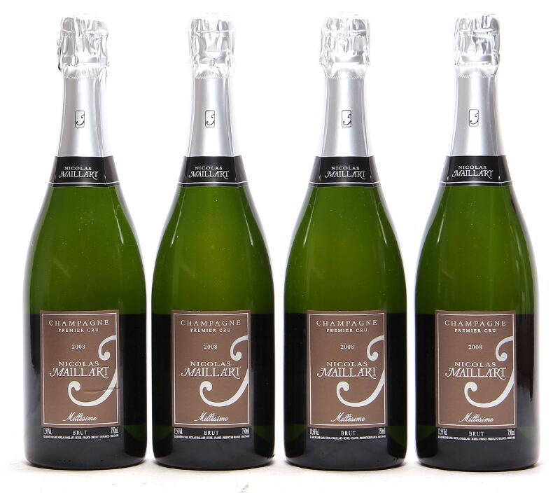 18 bts. Champagne Brut Premier Cru, Nicolas Maillart 2008 A (hf/in). Oc.