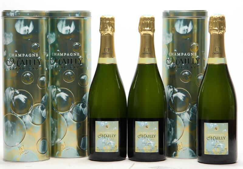 """12 bts. Champagne Brut Grand Cru """"O' de Mailly"""", Mailly 2008 A (hf/in). Oc."""