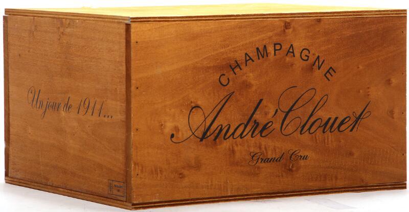 """6 bts. Champagne """"Un Jour De 1911"""", André Clouet A (hf/in). Owc."""