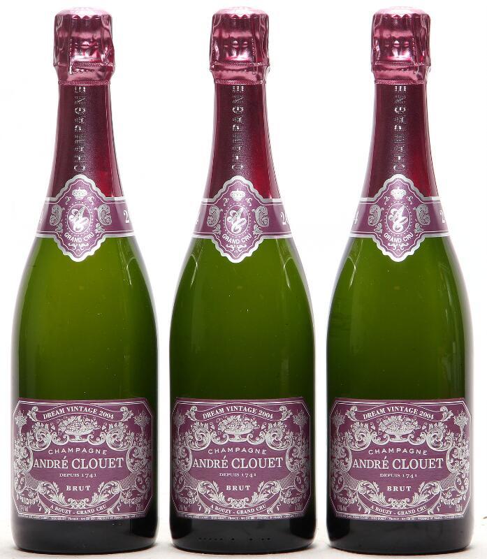 """6 bts. Champagne Brut Grand Cru """"Dream Vintage"""", André Clouet 2004 A..."""