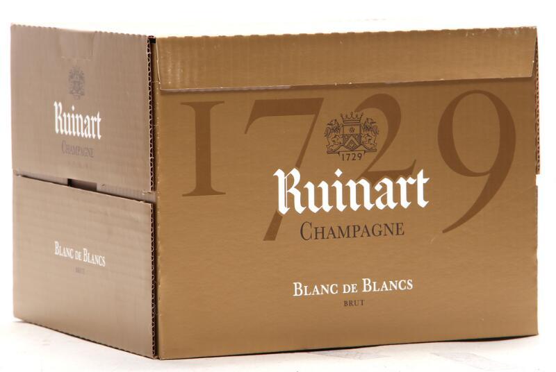 6 bts. Champagne Brut Blanc de Blancs, Ruinart Pére & Fils A (hf/in). Oc.