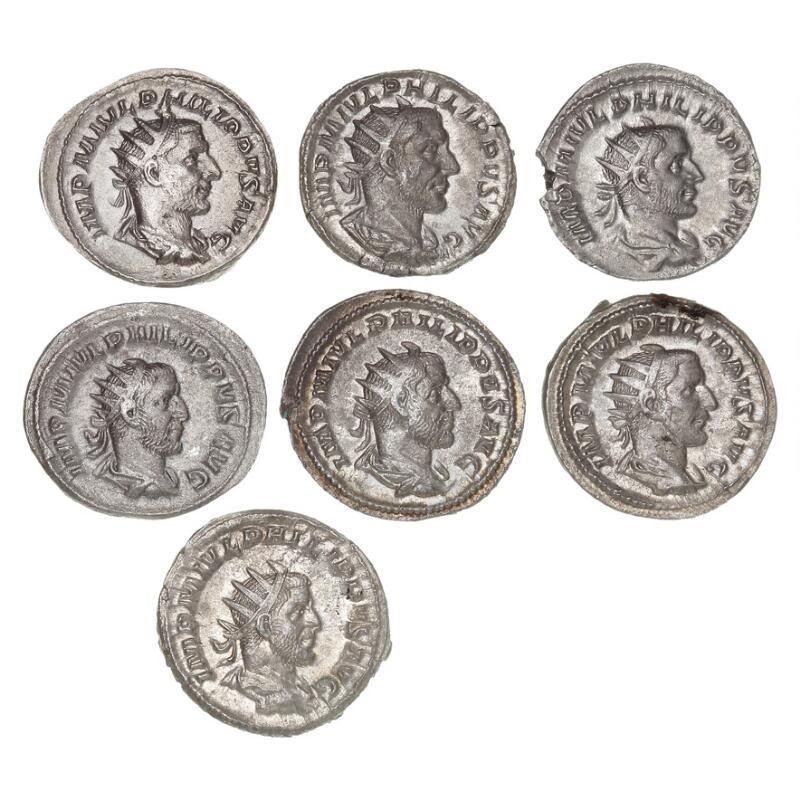 Roman Empire, Philip, 244–249, Antoninianus, collection, all different. (7)