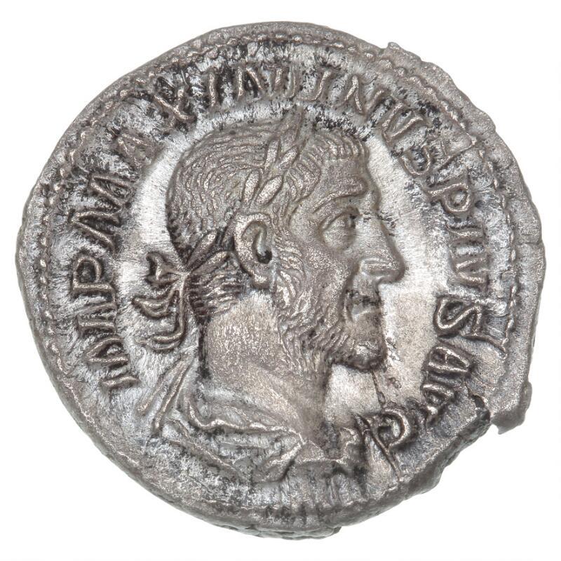 Roman Empire, Maximinus I, 235–238, Denarius, PAX AVGVSTI, 2.79 g, RIC 12