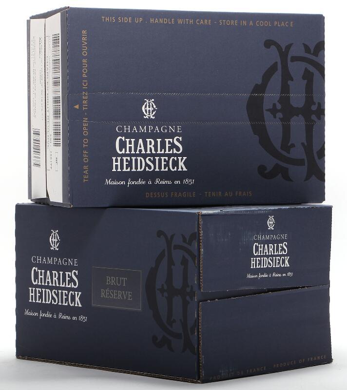 12 bts. Champagne Brut Reserve, Charles Heidsieck A (hf/in). Oc.