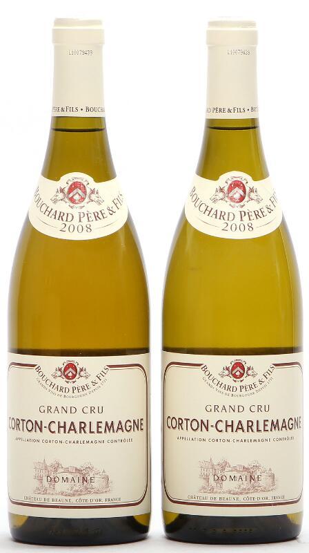 2 bts. Corton-Charlemagne Grand Cru, Domaine du Chateau de Beaune, Bouchard...