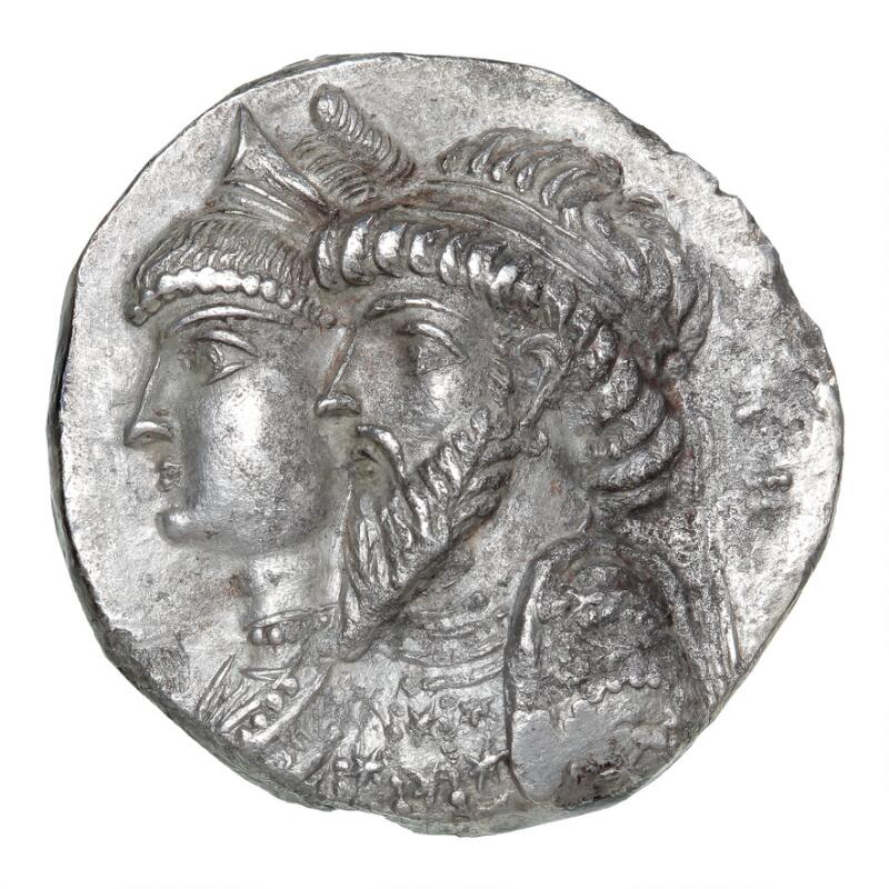 Ancient Greece, Elymais, Kamnaskires III and Dornning Anzaze, c. 82–72 BC...