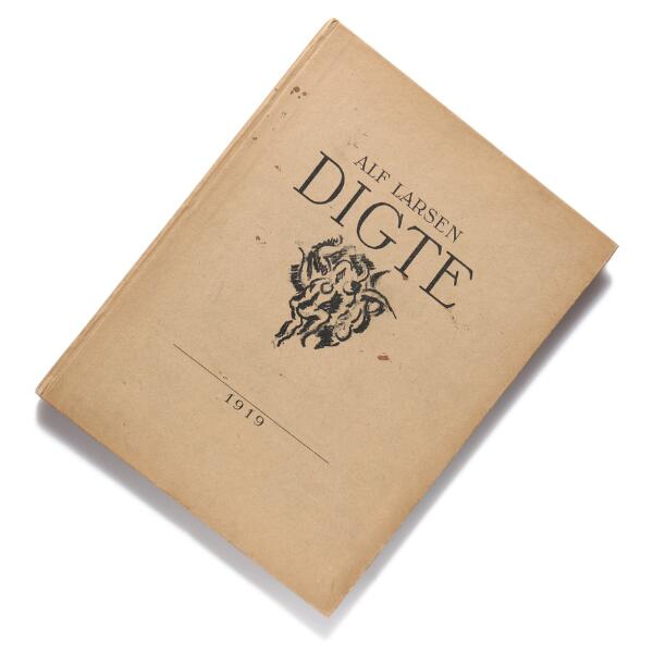 Axel Salto: Alf Larsen Digte. Cph 1919. Illust. with 5 orig. and signed etchings by Axel Salto. Inscribed by Salto.