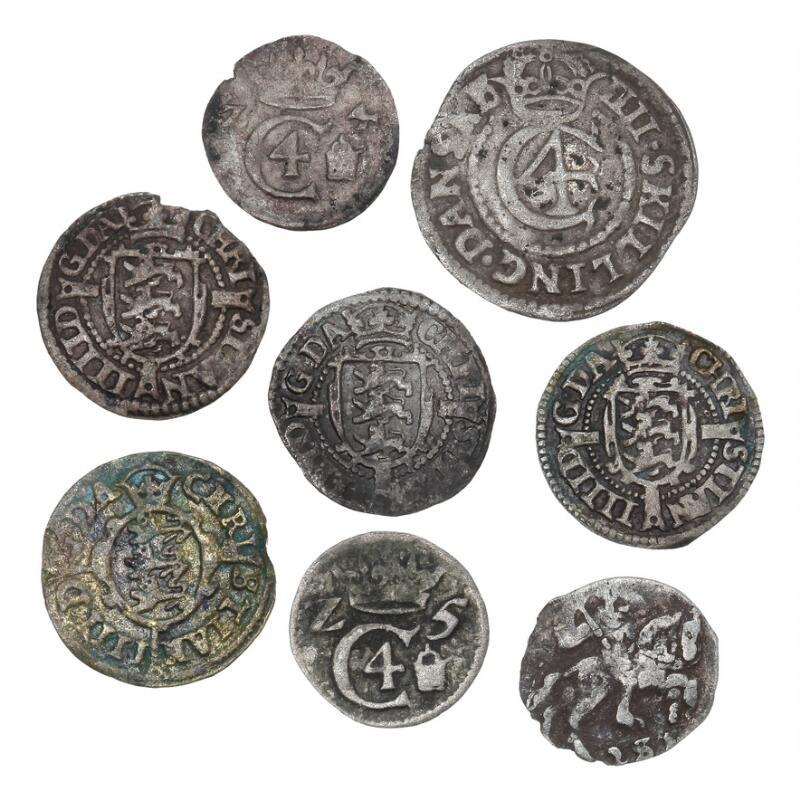 Christian IV, Copenhagen, 2 skilling 1624, 1625, 1626, 1645, 4 skilling...