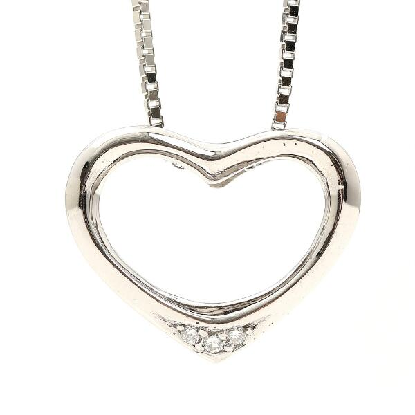 Toftegaard: A heart-shaped diamond pendant, mounted in 14k white gold. Accompanied by 14k white gold necklace. L. 1.8 and 50 cm.
