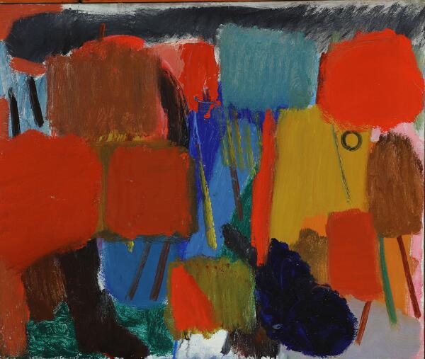 Else Fischer-Hansen: Untitled. Signed on the reverse EFH 1944-45. Oil on canvas. 52 x 62 cm.